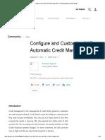 Configure and Customize SAP Automatic Credit Management _ SAP Blogs