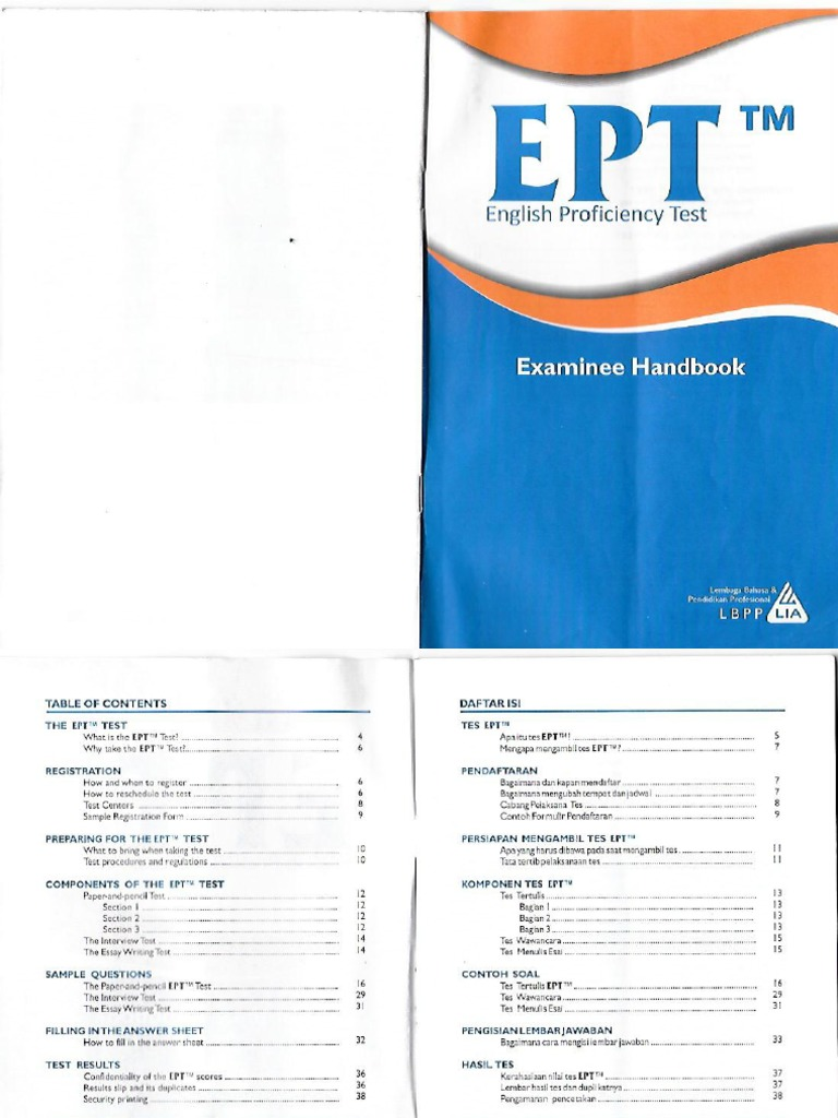 Documents Tips Examinee Handbook Ept Toefl Lia Pdf