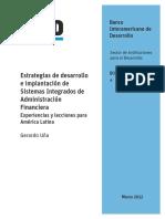 Estrategias de Desarrollo e Implantación de Sistemas Integrados de Administración Financiera