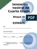 Plan - 4to Grado Bloque IV - Español