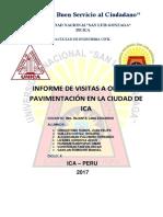 Informe Visita a Obras Pavimentacion Ica