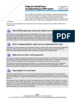 10 Things Erp Implementation
