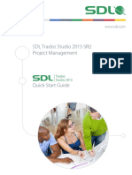 SDL Trados Studio 2015 SR2 Project Management
