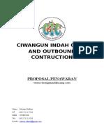 Contoh Proposal Penawaran Outbound Camp