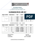 Calendarización Del Año 2017