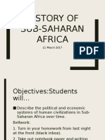 Subsaharan Africa History