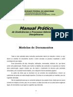 Modelo de Documentos MANUAL de comissão de processos disciplinares administrativos