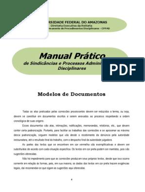 Modelo De Documentos Manual De Comissão De Processos
