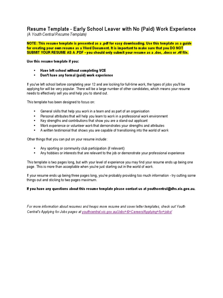 sample resume vce no paid resume templates on word 2010 attendance