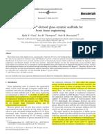 45S5 Bioglass®-derived glass–ceramic scaffolds for bone tissue engineering