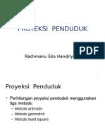 1. Proyeksi Penduduk
