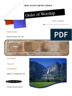 Order of Worship 07 18 2010 v1