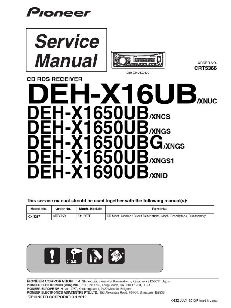 pioneer deh x16ub x1650ub x1690ub crt5366 car audio signal to pioneer deh 1900mp wiring-diagram pioneer deh x16ub x1650ub x1690ub crt5366 car audio signal to noise ratio decibel