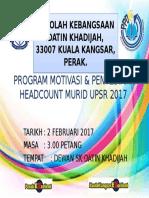 Backdrop Program Motivasi & Penyediaan Headcount Murid Upsr 2017