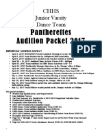 2017 pantherette team audition packet