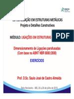 MÓDULO V - LIGAÇÕES EM ESTRUTURAS METÁLICAS - Parte I_A_Exercícios.pdf