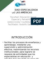 Supervisión y Administración en la educación