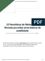10 Heurísticas de Nielsen. Uma Fórmula Pra Evitar Erros Básicos de Usabilidade. _ Blog.caelum.com