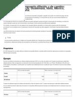 Diferencias Del Impuesto Diferido y de Cambio_ Costa Rica, Francia, Guatemala, Italia, México, Sudáfrica y España