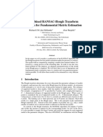 A Combined RANSAC-Hough Transform Algorithm for Fundamental Matrix Estimation