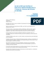 JESI Las Disposiciones de La OMC Que Facilitan El Comercio
