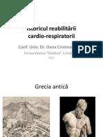Istoricul Reabilitarii Cardio-respiratorii