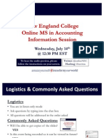 New England College MS in Accounting July 14th Information Session