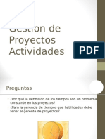 Proyectos - Actividades