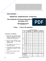 2013 Maths Resit Qp