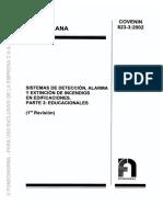 823-3-2002 Sistema de Detección de Alarma y Extinción Educacionales