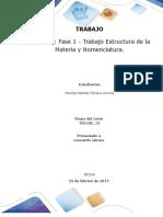 Formato entrega Trabajo Colaborativo – Unidad 1 Fase 1 - Trabajo Estructura de la Materia y Nomenclatura_Grupo xxx.docx