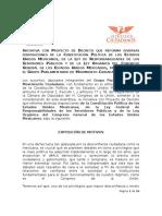Iniciativa CPEUM Inmunidad Parlamentaria y Fuero
