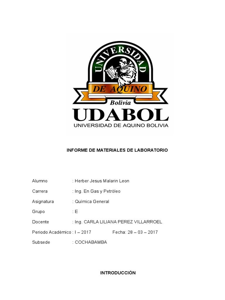 Informe de Materiales de Laboratorio y Normas de Seguridad