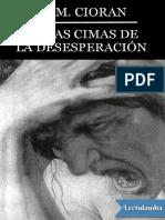 En las cimas de la desesperacion - E M Cioran.pdf