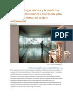 La Antropología Médica y La Medicina Social Dos Dimensiones Necesarias Para Abordar Los Temas de Salud y Enfermedad