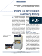 ASTM Standard is a Revolution in Weathering Testing