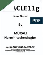 Murali Sir ( Oracle 11g Notes )