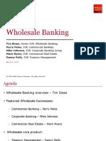 Wholesale Banking Presentation