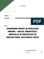 Dinamism psihic si evolutie umana (Autosaved).doc