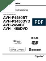 Operating Manual (Avh p4450bt Avh p3450dvd Avh 2450bt Avh 1450dvd) Esp