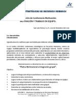 Propuesta Conferencia Trabajo en Equipo