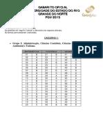 0036caderno 1 Gabarito Oficial Psv 2013