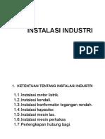 Instalasi Industri 2