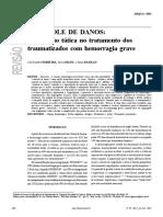 CONTROLE DE DANOS- uma opção tática no tratamento dos traumatizados com hemorragia grave