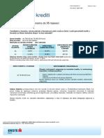 Gotovinski Krediti u Kunama Do 35 Mjeseci
