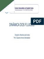 Aula 05 - Mecanica Dos Fluidos - Hidrodinamica