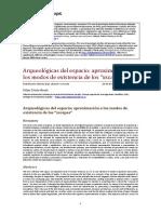 Arqueologicas-Del Espacio Aproximacion a Los Modos de Existencia de Los Xscapes