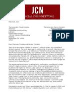 JCN Gorsuch Nomination Letter 3.29