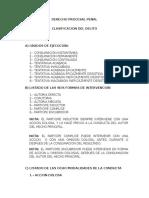 Clasificacion Derecho Procesal Penal