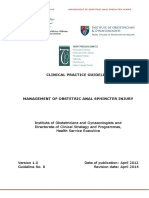 Management of Obstetric Anal Sphincter Injury